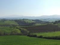 Sasso d'Ombrone, Monte Amiata, road towards Podere Santa Pia