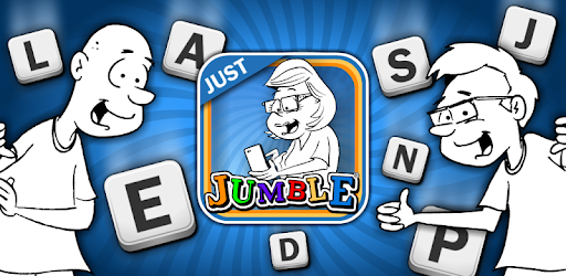 America's Funny and Punny newspaper puzzle in this marvelous app, JUST JUMBLE!