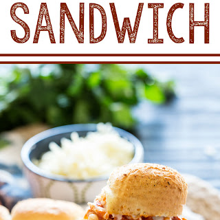 Baked Chicken Parm Sandwiches.