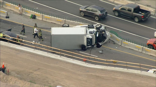 Rollover Crash Closes Westbound I-70 At Colorado Boulevard During Morning Commute