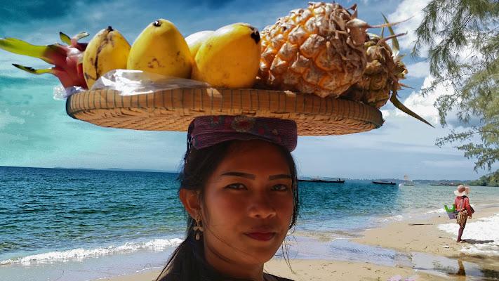 Cambodge, plage de Sianoukville di terazuc