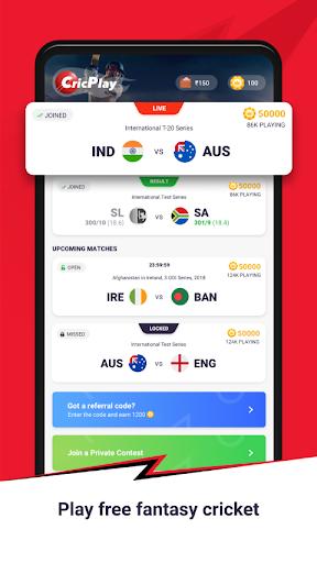 CricPlay - Play Fantasy Cricket & Make Predictions screenshots 1