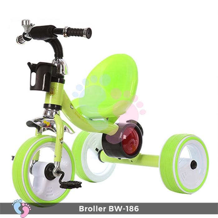 Xe đạp 3 bánh Broller XD3-186 có đèn bánh xe 6