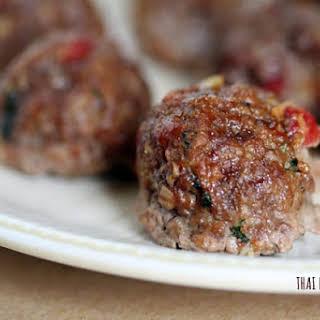 Thai Basil Beef Balls.