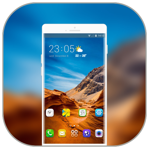 Theme for Samsung galaxy a7 landform wallpaper icon