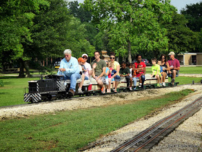 Photo: Engineer Gary Brothers and Conductor Dennis Profota     HALS Public Run Day 2015-0516 RPW