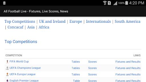 All Football Live - Fixtures, Live Scores, News 1.1 screenshots 7