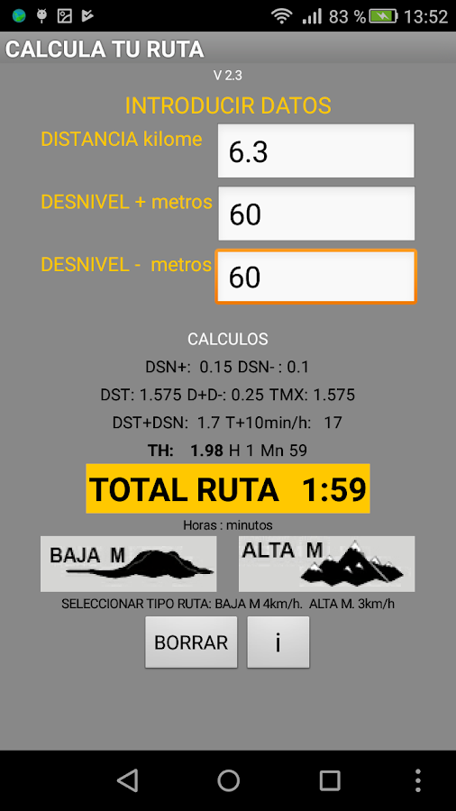 CALCULA TU RUTA- screenshot