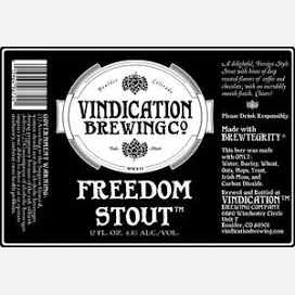 Logo of Vindication Freedom Stout