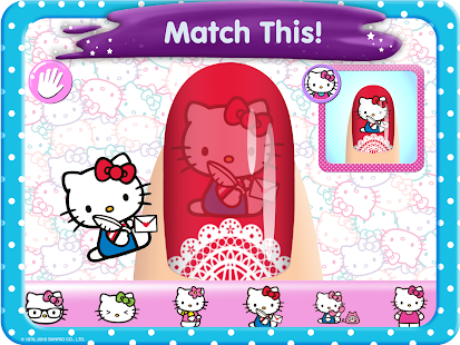Hello Kitty Nail Salon Screenshot