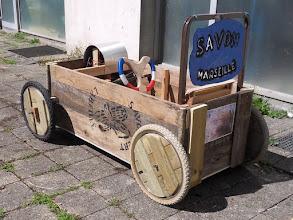Photo: La caisse à savon 2011 réalisée par les résidents du Forum, les habitants et les jeunes du quartier