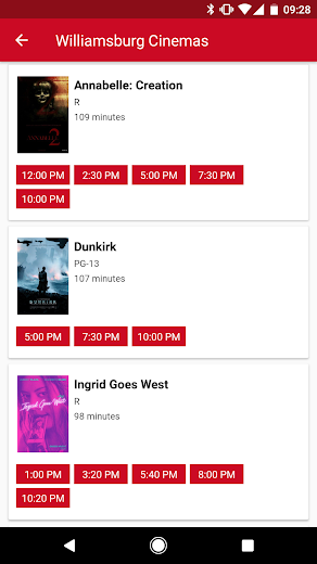 Screenshot 0 for MoviePass's Android app'