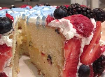 Lemon Cake with Chantilly Cream