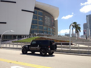 Photo: Spotted in front of the AAA: The Paramount Bay Jeep! We're cheering on The Miami HEAT as they take on the Houston Rockets tonight at 6PM!
