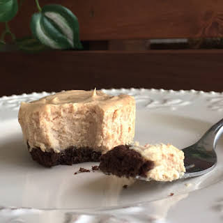 Peanut Butter Cheesecake with a Chocolate Graham Cracker Crust.