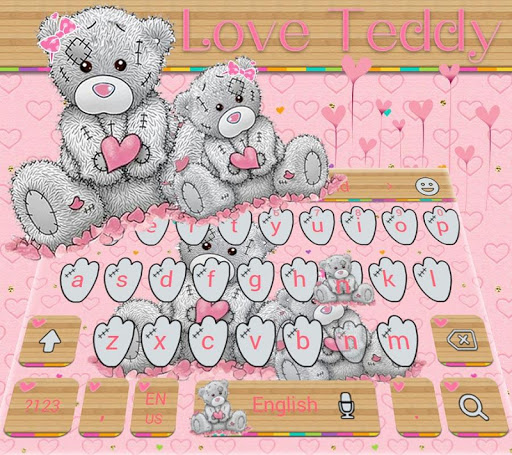 Teddy Bear Keyboard Theme Cute Bear in love 10001002 screenshots 3