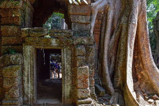 "cambodia-angkor-entrance.jpg - The so-called ""Jungle Temple"" which, fortunately, has not been restored."
