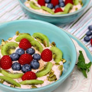 Banana Yogurt Fruit Breakfast Bowl.