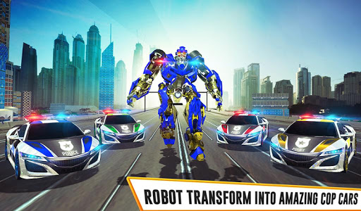 US Police Car Real Robot Transform: Robot Car Game 163 screenshots 15