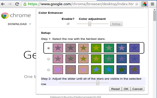 Potenciador del color - Chrome Web Store