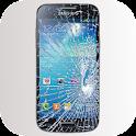 Telefone vidro quebrado Piada icon