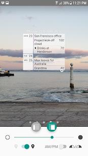 Whatsnext - Rapid Event Planning Calendar Widget - náhled