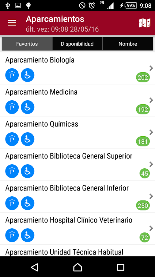 Universidad de Murcia App- screenshot