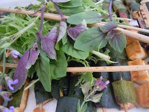 Photo: brochette de courgette à l aigre doux
