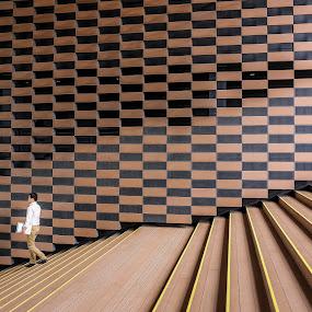 Steps by Ryusuke Komori - City,  Street & Park  Street Scenes ( japan, osaka, steps, people, man )