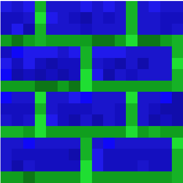 Bricks:Blue Paste:Green