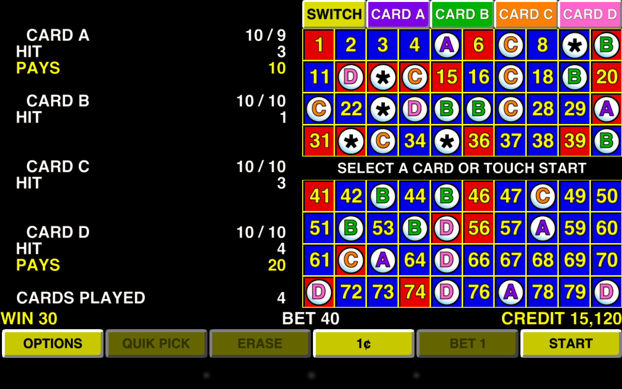 Multi chance keno keno plus how to play object of game winning numbers - Keno 4 Multi Card Vegas Casino Screenshot