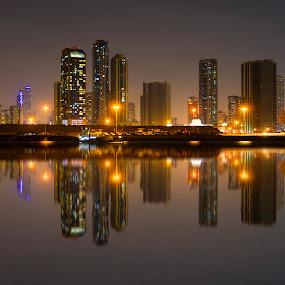 Sharjah Skyline - Dubai by Abbas Mohammed - Buildings & Architecture Office Buildings & Hotels ( love, girls, skyline, dubai, uae, abu dhabi, new york, beach, sharjah,  )