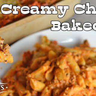 Creamy Cheesy Baked Ziti.