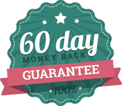 60-day money back guarantee!