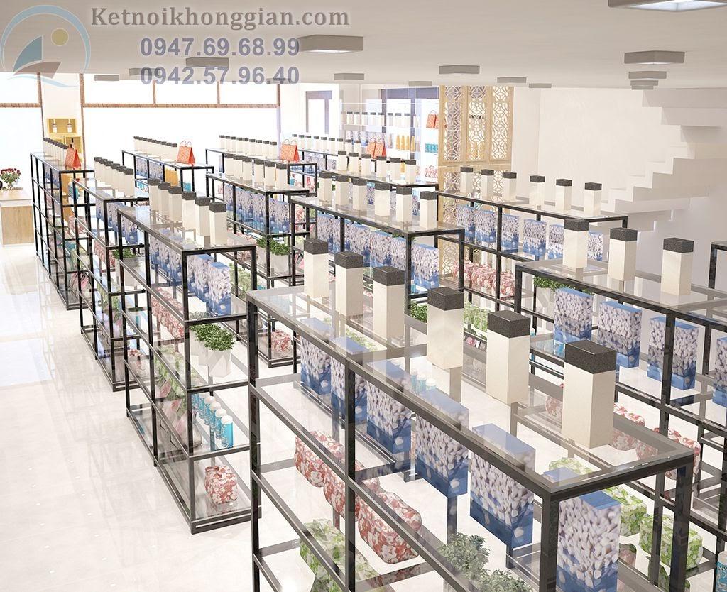 thiết kế siêu thị mini thoáng đãng mát mẻ