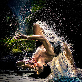 swim in river by Heru Wahyudi - Sports & Fitness Watersports