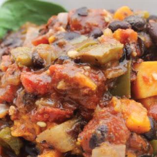 Vegetarian Slow Cooker Sweet Potato Chili.