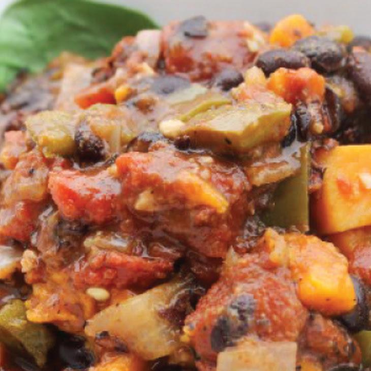 Vegetarian Slow Cooker Sweet Potato Chili
