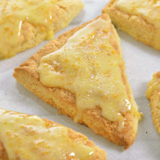 Citrus Scones Recipe with Orange Glaze