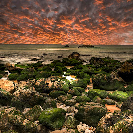 PRAIA DA ADRAGA by Gjunior Photographer - Landscapes Cloud Formations ( nature, beach, clouds, landscape )