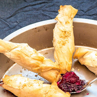 Brie And Cranberry Parcels.