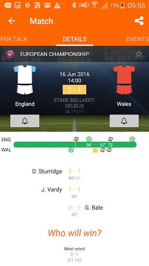 LiveSoccer live scores: FIFA World Cup 2018 screenshot for Android