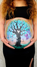 Photo: Pregnant maternity Painting by Tess, Huntington Beach, Ca. Call to book her for your event today: 888-750-7024