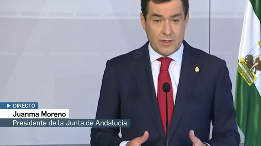 Juanma Moreno ha anunciado la continuidad de las medidas.