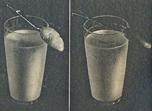 Photo: Testowanie mleka - A jó tejbe mártott kanálon megtapad a tej színe, a zsiradék. A lefölözött, silány, sovány tej lefolyik a kanálról, mint a víz.