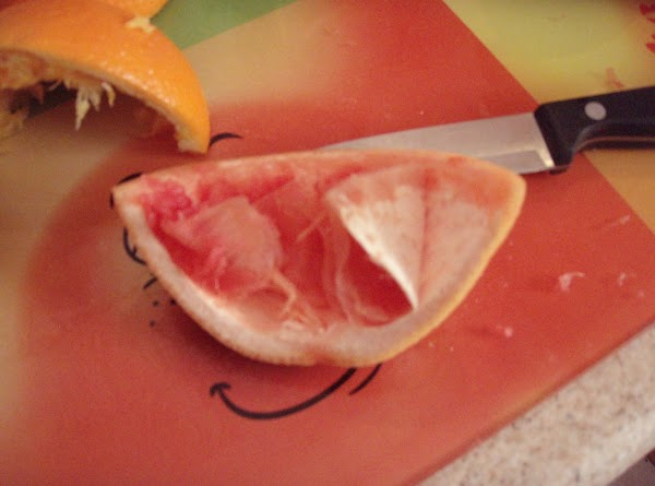 Cut all the fruit in half and juice.  I use an electric juicer...