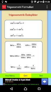 Trigonometri Formülleri - náhled