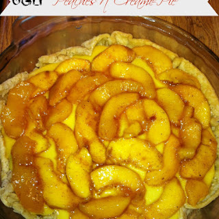 Ugly Peaches n' Creame Pie with home-made whipped cream