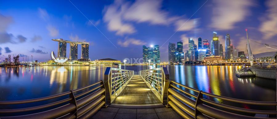 Way to City Jetty by Zexsen Xie - City,  Street & Park  City Parks