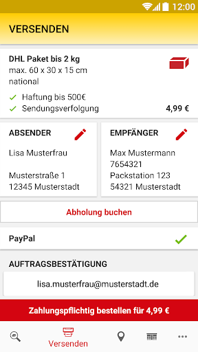 DHL Paket screenshot 6